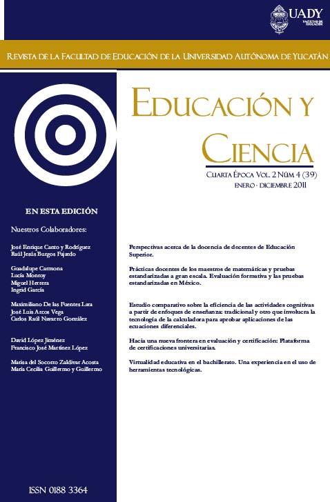 Educación y Ciencia No. 39, 2011.